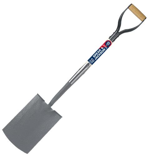 Neverbend Professional Treaded Digging Spade Spear Jackson