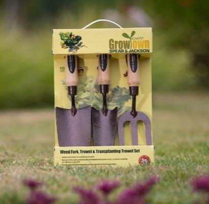 Spear and Jackson Mini Hand Tool Set Pour délicate plantes semis fenêtre Boîtes