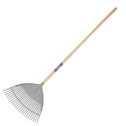 Neverbend® Plastic Leaf Rake (wooden handle)
