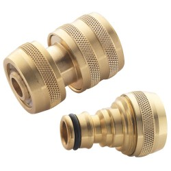 "Brass Water Fitting - 1/2"" Female & 1/2"" Male Hose Connectors"