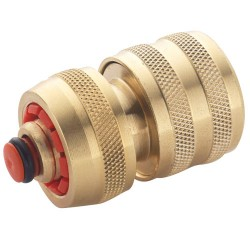 Brass Water Fitting - Hose Connector & Water Stop