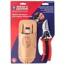 Razorsharp Gift Set - Secateurs & Leather Holster