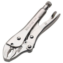 Curved Jaw Locking Plier with Wire Trimmer