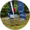 Neverbend® Professional Heavy Duty Lawn Rake
